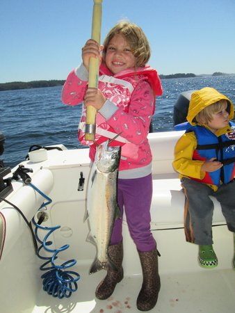 Tofino Fish Guides - Private Charters : her first salmon:)