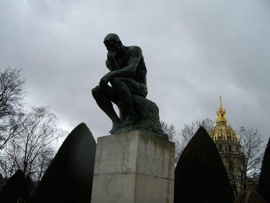 Musée Rodin : Мыслитель в парке