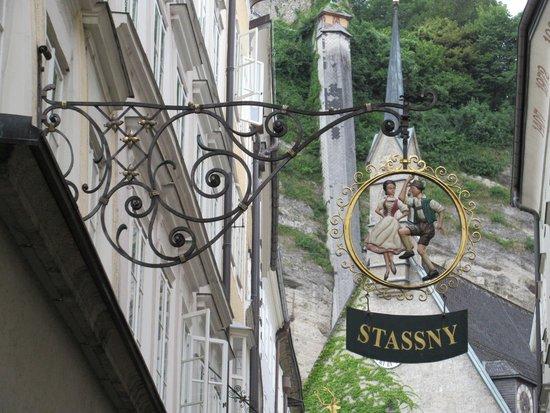 Salzburg's Old Town: Shop sign