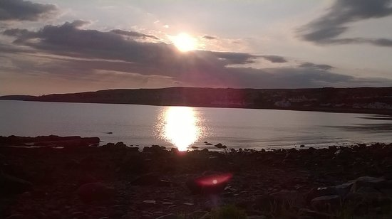 Gairloch Hotel : Sunset over the Loch