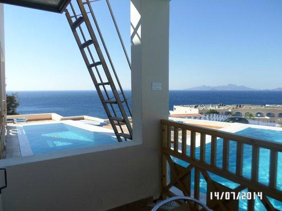 Mitsis Family Village Beach Hotel: Balcony view