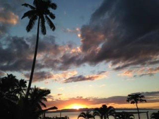 Makaira Resort: Stunning sunset views from our deck