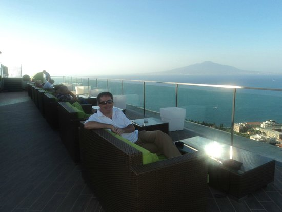 Grand Hotel President: Vesuvius & the bay of Naples