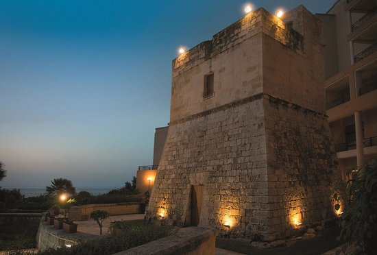 Corinthia Hotel St. George's Bay: 16th Century Watch Tower on Hotel Grounds