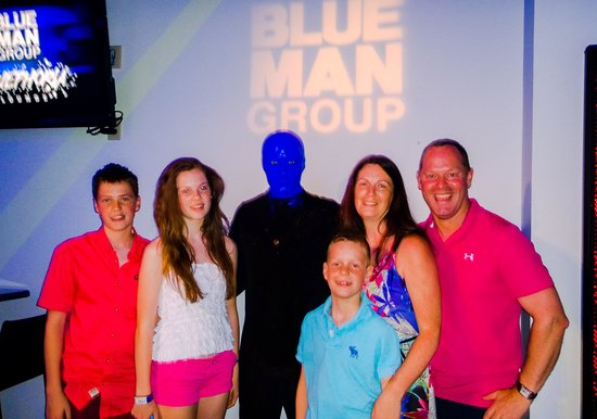 Blue Man Group: Our VIP meet after the show