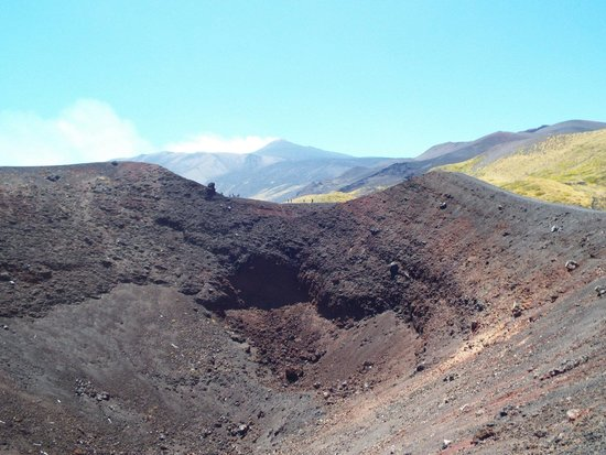 Etna People: One of the craters from 2002 eruption