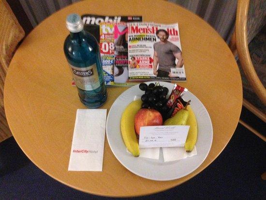 InterCityHotel Frankfurt: Willkommensgruß für Stammkunden