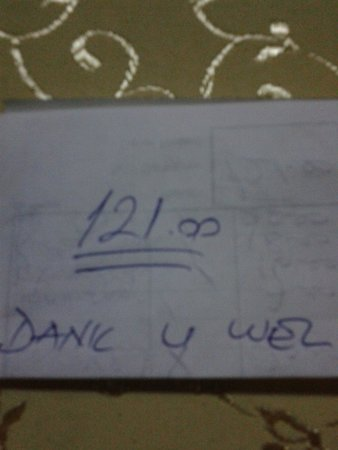Cinar : the receipt with a personal note in Dutch