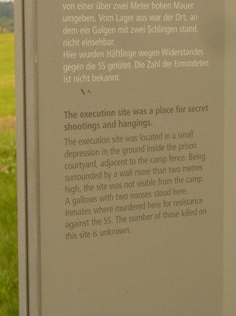 "Gedenkstaette Mittelbau Dora: A descriptive of the ""Secret Execution Area"""