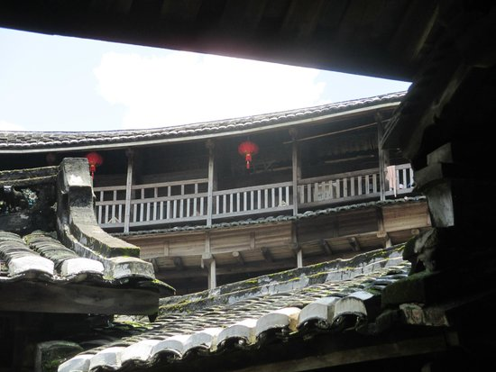 Gaobei Tulou Compound: bovenste verdieping Hakkan huis