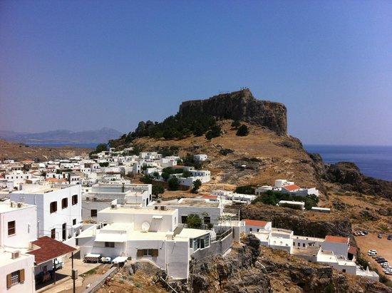 Lindos: L'acropole et le village