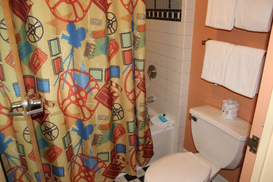 Disney's All-Star Movies Resort: Small but efficient bathroom area.
