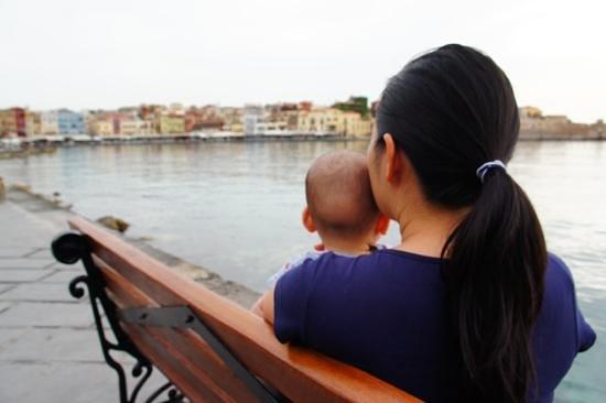 Old Venetian Harbor : Enjoying the view