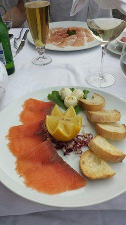 Ristorante La Punta : Smoked salmon starter
