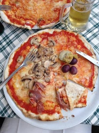 Il Leoncino: pizza capricciosa that i asked without eggs
