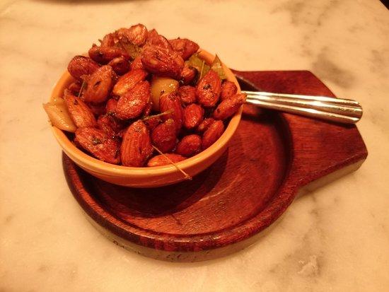 The Purple Pig: Pork fried almonds, rosemary & garlic