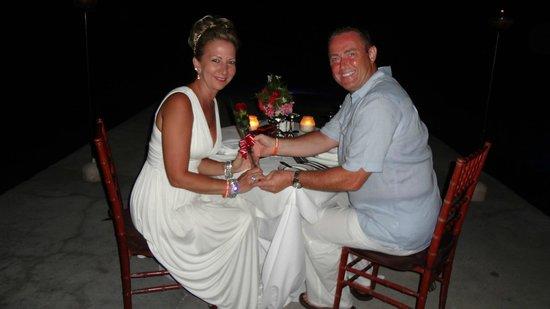 Sandals Royal Plantation: Anniversary dinner on the pier