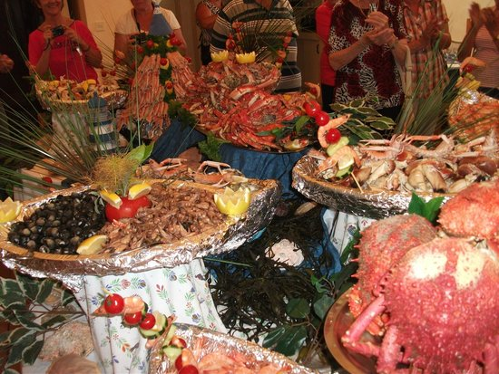 Paimpol Eurotel Le Grand Bleu: Buffet fruits de mer
