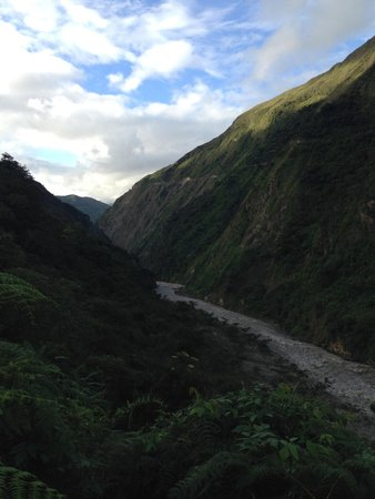 Yellow River: View of Quellomayo River on a hike from Tatiana's