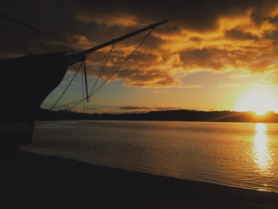 Waitangi Holiday Park: Sunset