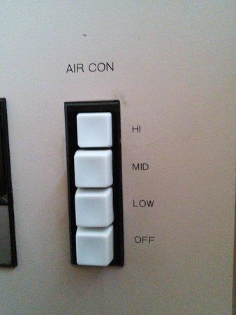 Shin Osaka Hotel : エアコンの調整はこれだけです