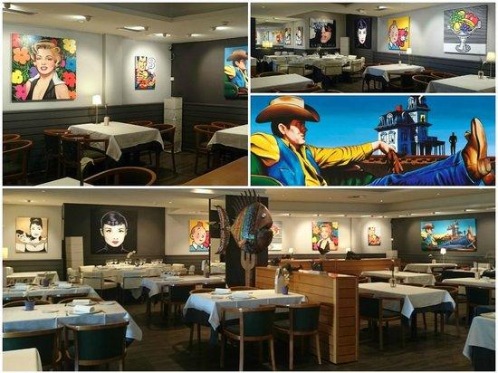 Restaurante Iris Gallery: Decoración actual Restaurante