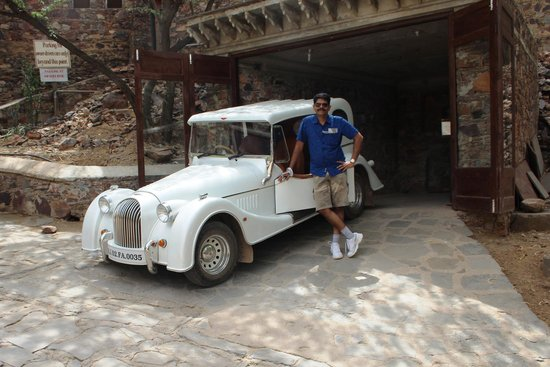 Neemrana Fort-Palace: The vintage Bentley...