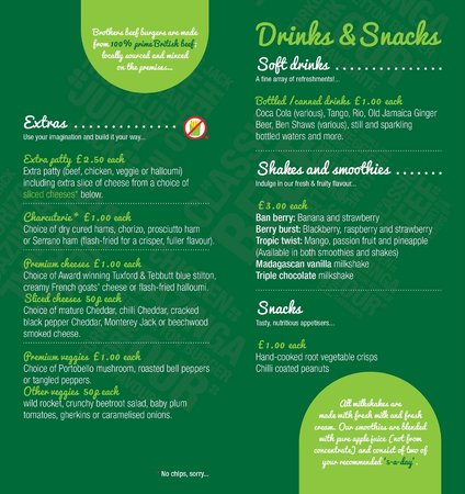 Burger Brothers : Extras/Drinks/Snacks (July 2014)