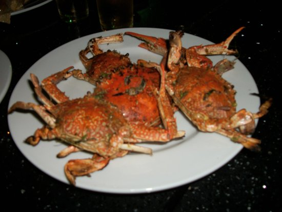 Panorama Bungalows Resort El Gouna: grill cooked crabs