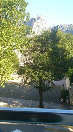 Hotel Plaza Omis : View from room on street side of hotel.