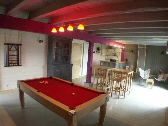 salon billard avec coin bar photo de les instants vol s tudeils tripadvisor. Black Bedroom Furniture Sets. Home Design Ideas