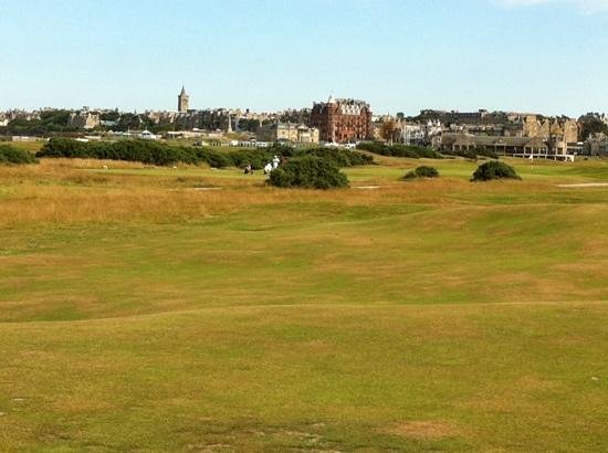 St Andrews Links: Looking back towards the clubhouse.
