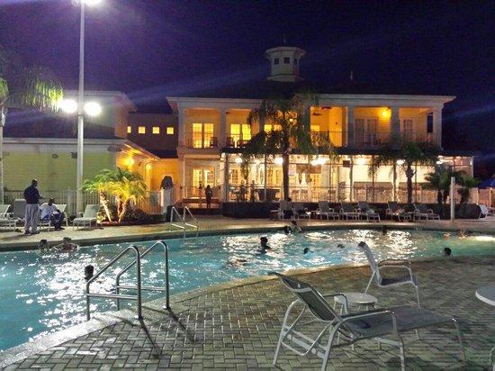 Bahama Bay Resort Orlando by Wyndham Vacation Rentals: Pool at night
