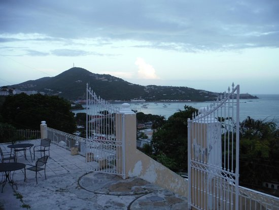 Villa Santana: A view to the west and the cruise terminal.