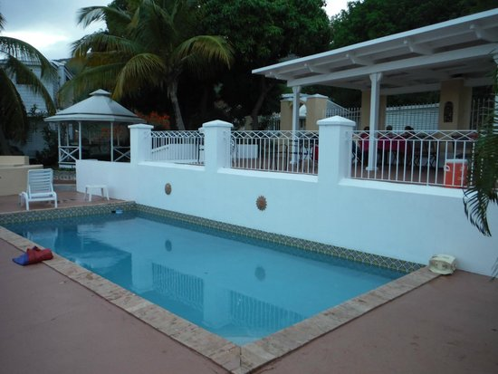 Villa Santana: The pool and patio (with a brand new grill).