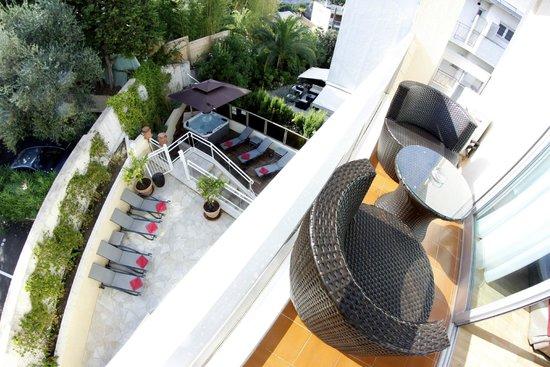 Hotel Cannes Gallia: Vue d'un balcon
