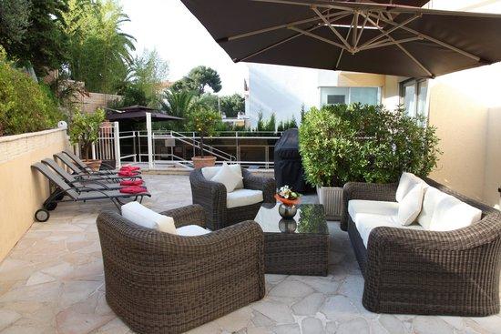 Hotel Cannes Gallia : Terrasse extérieure