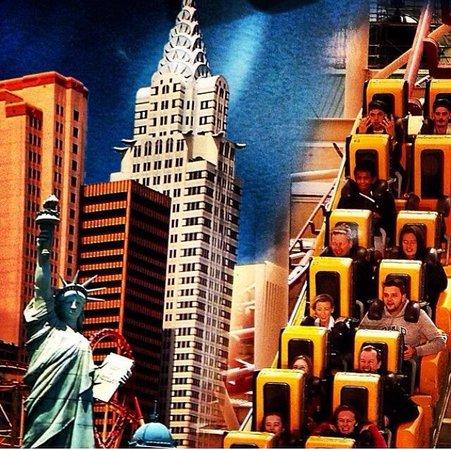 The Big Apple Coaster & Arcade: The Roller Coaster at New York New York Casino & Hotel