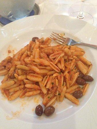 Hotel Imperiale: pasta con olive