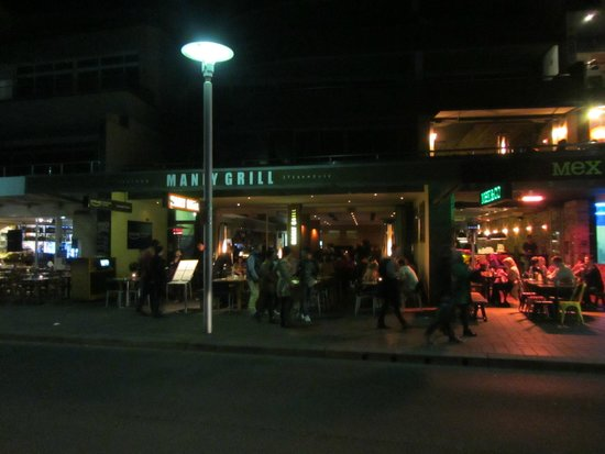 The front of the Manly Grill,  it faces the beach