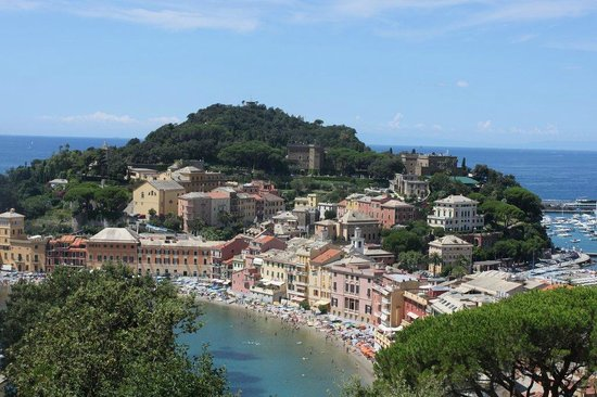 Vis a Vis Hotel : View from the top floor on Sestri Levante
