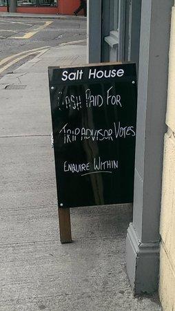 Salthouse Brasserie: Cash Paid for Tripadvisor Votes