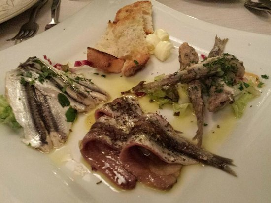 Ristorante Miky: anchovies seafood platter 1