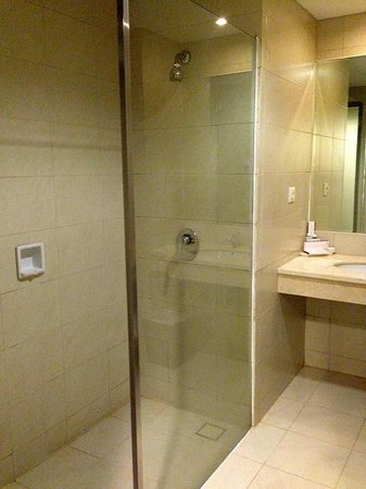 Grand Clarion Hotel & Convention Makassar: Outdated bathroom