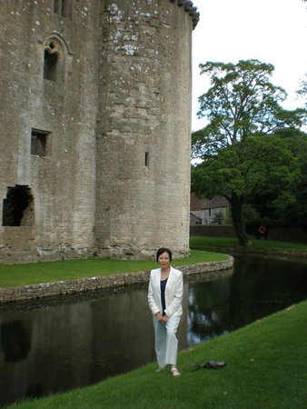 The George at Nunney : View of Medieval Castle at Nunney, Somerset