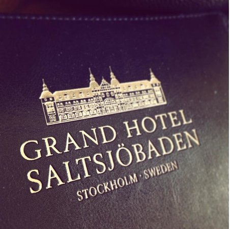 Grand Hotel Saltsjobaden: Logotype on folder at hotel room