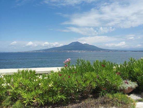Towers Hotel Stabiae Sorrento Coast : Vista sul Vesuvio dall'hotel