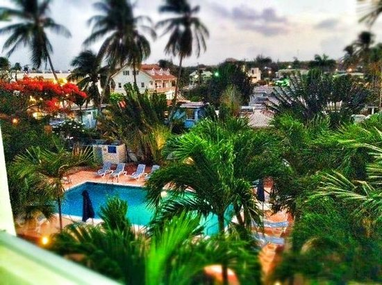 Time Out Hotel: View from the Balcony- 6am in Barbados