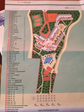 Side Star Elegance : map of the hotel. Our room was furthest away from pool