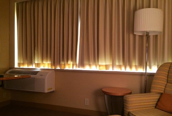 Hilton San Francisco Airport Bayfront Curtains Are Too Short Cover Your Windowsill With A
